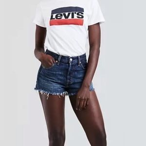 NWT Levi's 501 original fit button fly shorts 25